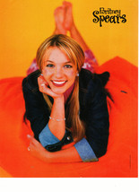 Britney Spears teen magazine pinup clipping barefoot on the beach Popstar