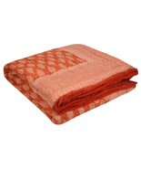 Home Furnishing Bedding Quilt Bedspread Tamarind Leaf Buti Jaipuri Block... - $47.00