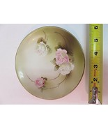 """RS Germany Collectible Plate 1910-1945 Pink White Roses Hand Painted 6"""" - $29.15"""