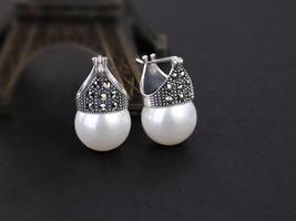 Natural Mother of Pearl Drop Earrings - $26.41+