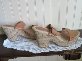 # B.O.C. Born Concept Women's Light Brown Leather HEEL Sandals Shoes Siz... - $23.99