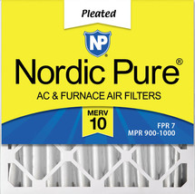 Nordic Pure 20x20x4 (3 5/8) Pleated MERV 10 Air Filter 1 Pack - $22.52