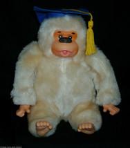17.8cm Vintage Russ Berrie Graduación Sombreros Gonga Mono Peluche Peluche Mono - $21.87