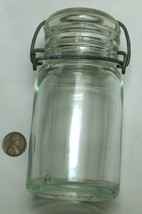 VTG RARE Hazel Atlas 8oz 17-K 444 1902-1964 Clear Canning Fruit Jar, Flip Seal - $59.38