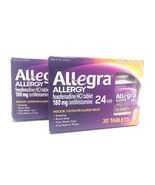 ALLEGRA ALLERGY 180 MG 24 HR 30 TABLETS 2 pack (60 tablets total) EXP 8/... - $16.00