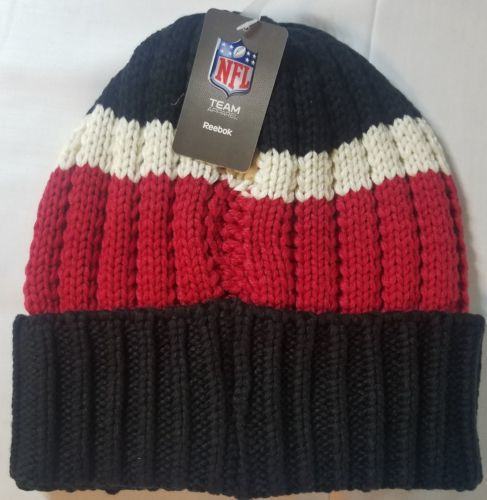 493067ea Atlanta Falcons NFL Tight Cuff Striped Knit Beanie Warm Winter Hat Cap