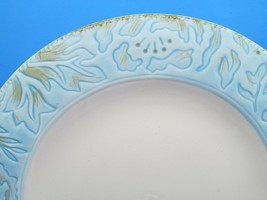 "Fitz And Floyd Toulouse Blue 11 1/8"" Dinner Plates Set Of 3 Plates - $35.89"