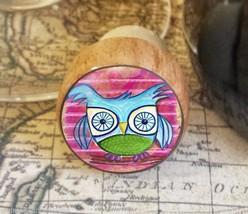 Owl Wine Stopper, Pink Woodland Handmade Kitsch Owl Design, Bottle Stopper - $8.86