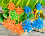 2 vintage pairs of plastic dangle earrings blue orange beads cluster thumb155 crop