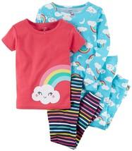 Carter's Girls' 4-Pc. Rainbow Snug Fit Cotton Pajama Set 4 - $36.84