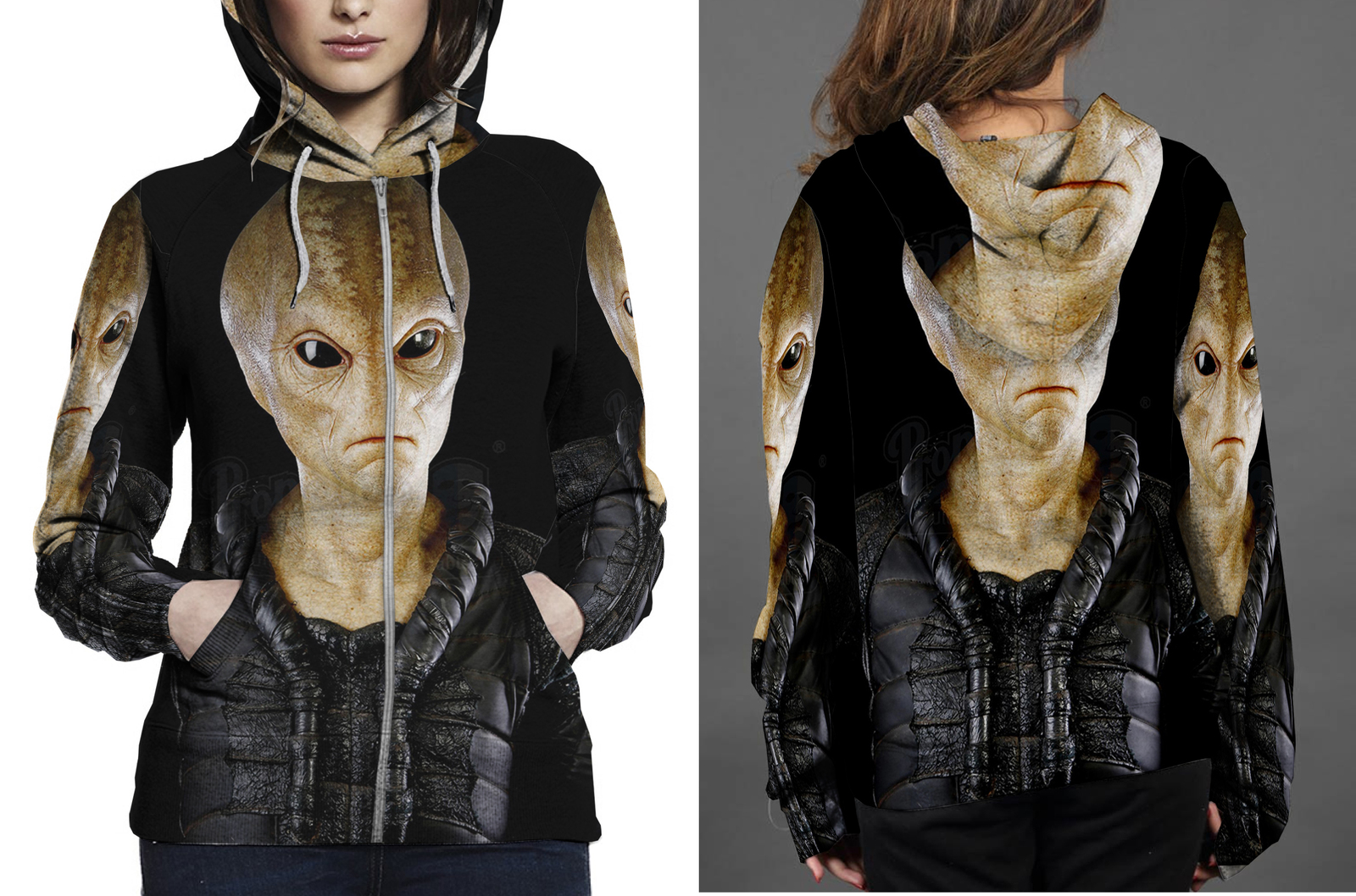 Men in black ii zipper hoodie women s