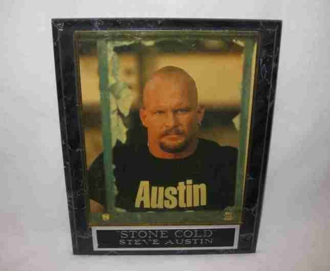 "8"" X 10"" World Wrestling Federation WWF Steve Austin Stone Cold Picture Plaque"