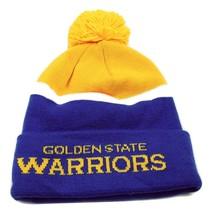 Golden State Warriors adidas NBA Basketball Team Pom Pom Knit Hat Beanie Toque - $20.85