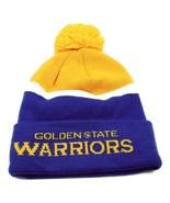 Golden State Warriors adidas NBA Basketball Team Pom Pom Knit Hat Beanie... - $20.85