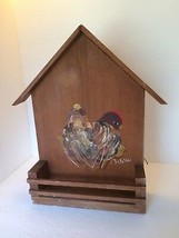Spice Rack Solid Wood Hen Chicks Painting Wall Hanging Vintage Kitchen D... - £9.11 GBP