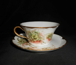 Antique Haviland Limoges France Hand Painted Apple Blossom Teacup 1880s - $90.25