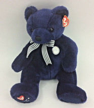 Ty World Class Teddy Bear New York Yankees Beanie Buddy August 2004 NEW - $38.69