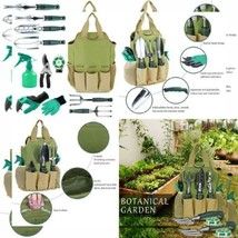 INNO STAGE Gardening Tools Set and Organizer Tote Bag with 10 Piece Gard... - $35.46