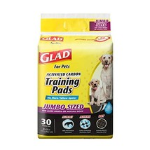 Glad for Pets JUMBO-SIZE Charcoal Puppy Pads | Black Training Pads That ... - $17.44