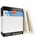"ARTEZA 11x14"" Professional Stretched White Blank Canvas, Bulk Pack of 8,... - $33.99"