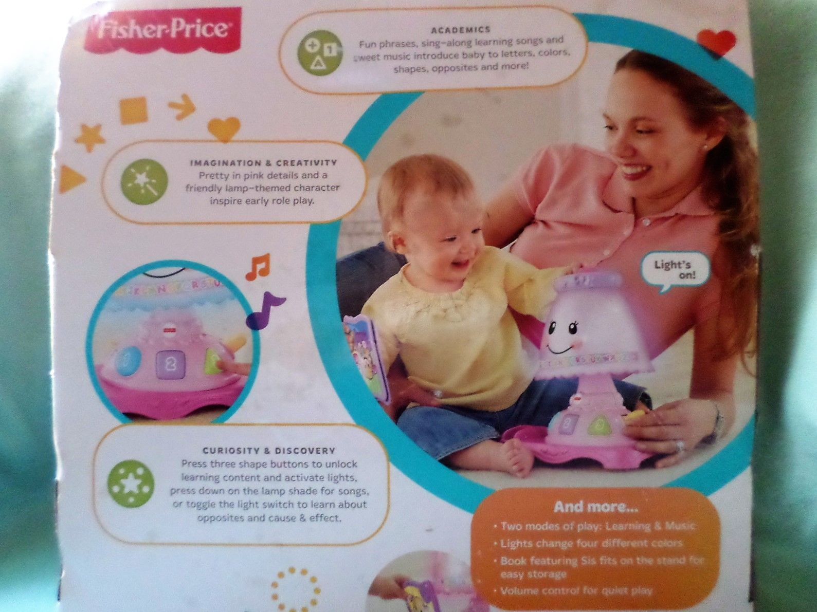 Fisher Price My Pretty Laugh U0026 Learn Lamp And 47 Similar Items
