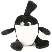 "VTG Walking Bomb Plush 8"" Eyes Black White Grenade Cartoon Stuffed Anima... - $35.53"