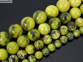 Natural Yellow Turquoise Gemstone Round Beads 16'' 2mm 4mm 6mm 8mm 10mm ... - $2.77+