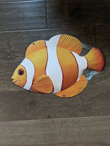 "16"" NEMO clown dory tv Goldfish 3d cutout retro USA STEEL plate display ad Sign - $63.70"
