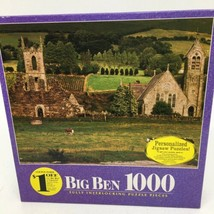 Big Ben 1000 Piece Puzzle Baltinglass Abbey, Ireland Hasbro Milton Bradl... - $15.88