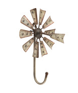 Windmill Metal Wall Hook Home Decoration Office Decor - $27.97