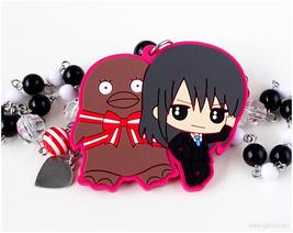 Katsura and Elizabeth Rubber Charm Necklace, Anime, Handmade Jewelry - $26.00