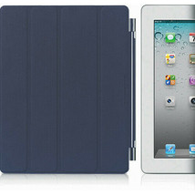 Apple MD303LL/A Smart Leather Cover for the iPad 2 & New Ipad, Navy - $15.83
