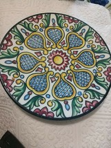Hand-painted Ceramic Hanging Wall Plate Multicolour 10 inc  Unbranded - $27.96