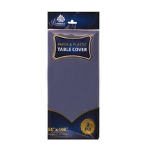 3 Ply Paper/Plastic Table Covers 54 x 108 Inch Blue/Case of 24 - $70.00