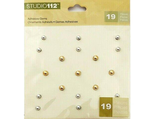 K&Company Studio 112 Metallic Adhesive Gems #30-620360