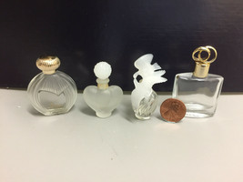 Lot of Four (4) Empty Glass Perfume Bottles - Nina and others - $9.49