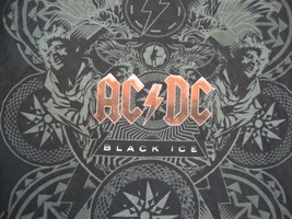 AC/DC ACDC Black Ice Classic Rock Heavy Metal Music Album Souvenir T Shi... - $15.53