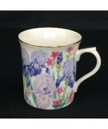 1995 Japan Lenox Suzanne Clee Iris Flower Blossom Fine Porcelain Coffee Mug - $13.30