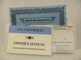 1974 Chevrolet Chevy Owners Manual Set 16018 - $18.76