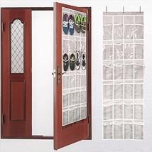 Aotuno Over Door Shoe Organizer 24 Reinforced Pockets gray Organizers Home - $16.01 CAD
