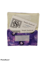 Purple Pansies Re-useable *gift card holder *  - light lining - $3.99