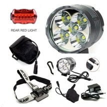 Eclairage Velo, 6000 Lumens 5x CREE XM-L T6 LED 3 Modes Bicyclette de Ve... - $44.98