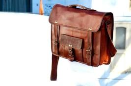 """15"""" Men's Leather Laptop Bag Messenger Shoulder Handbag Vintage s Briefc... - $54.44"""