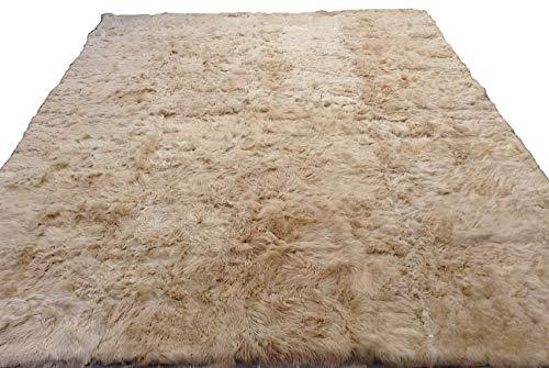 Alpakaandmore Light Brown Suri Alpaca Furry Carpet Fleece Fabric Covered (82.7 x - $666.27