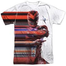 Power Rangers The Movie Red Streak Tshirt White - $29.98+