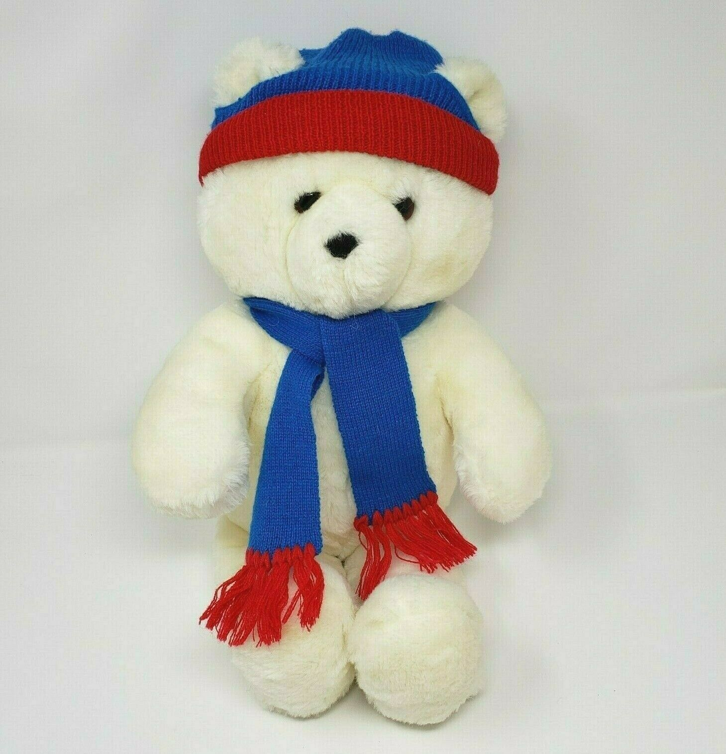 "Primary image for 20"" VINTAGE 1986 DAKIN HONEY JO WHITE WINTER TEDDY BEAR STUFFED ANIMAL PLUSH TOY"