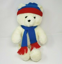 "20"" VINTAGE 1986 DAKIN HONEY JO WHITE WINTER TEDDY BEAR STUFFED ANIMAL P... - $42.08"