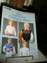 Leisure Arts 591 More Quick To Knit Children's Vests Sz 2-8 1988 Barbara Boulton - $2.91