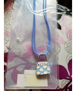 NEW - Pacific Styles Blue Purse Charm Necklace - $9.99