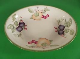 Royal Doulton COUNTRY LANE Brushed Green Trim Oval Vegetable Serving Bowl Dish - $27.67